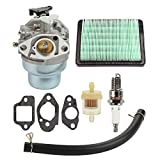 Butom Carburetor with Gasket Spark Plug Fuel Air Filter kit for HONDA GCV160 GCV160A GCV160LA HRB216 HRS216 HRR216 HRT216 HRZ216 Carb Lawn Mower