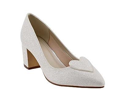 Diamante Satin Ivoire Légèrement Bout Pointu Chaussures De Mariage Yqpp6TjSqC
