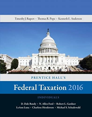 amazon com prentice hall s federal taxation 2016 individuals 29th rh amazon com Individual Taxation 2015 Taxation in Canada