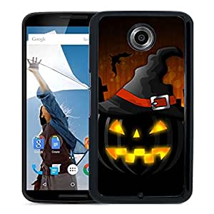 Unique DIY Designed Cover Case For Google Nexus 6 With Jack O Lantern Holiday Mobile Wallpaper 2 Phone Case