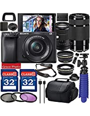 $1589 » Sony Alpha a6400 Mirrorless Digital Camera with 18-135mm Lens (Black ILCE-6400M/B) & 55-210mm Lens Bundle with Accessory Package Including 64GB Memory, Spider Vlog Tripod & More (21 Pieces)
