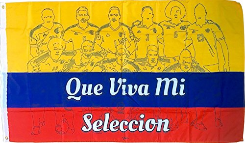 Perfect Hat Trick Colombia Fan Flag 3x5ft