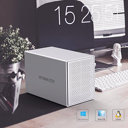 Yottamaster Aluminum Alloy 5 Bay 3.5 Inch USB3.0 RAID External HDD Enclosure SATAIII Support 5 x 10TB & UASP -Silver by Yottamaster (Image #6)