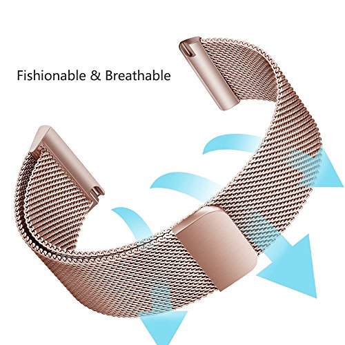 Electronics Rose Cable Serial -  Orcbee  _Milanese Magnetic Loop Stainless Steel Band for Fitbit Versa (Rose Gold)