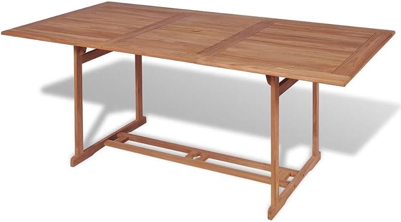 Festnight Table de Jardin Table en Teck Rectangulaire d ...