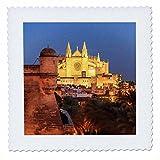 3dRose Danita Delimont - Churches - Spain, Mallorca, Palma de Mallorca. La Seu Gothic Cathedral. - 25x25 inch quilt square (qs_277911_10)