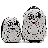 CUTIES AND PALS KIDS BOY GIRL TRAVEL 17' CARRY-ON LUGGAGE + 13' BACKPACK - DALMATIAN