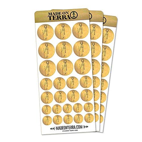 Hathor Ancient Egyptian Goddess Removable Matte Sticker Sheets Set