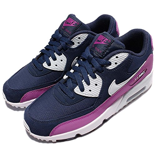 Nike Unisex-Kinder Air Max 90 Mesh (GS) Shoe Low-Top LIGHTENING/MIDNIGHT