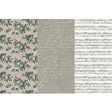 """Decoupage Paper 12""""X16"""" 3/Pkg-Victorian Romance"""
