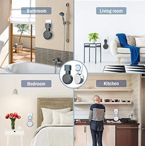 Soporte de montaje en pared Echo Dot, soporte de montaje en pared de salida, accesorios que ahorran espacio para el altavoz inteligente Dot de 3.a generación, accesorios inteligentes Echo Dot con gestión de cables, ocultación de cables desordenados (negro, 2 unidades) 11