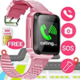 SIXONE Kid Smart Watch Phone with Free SIM Card for Boy Girl Game Sport Watch with SOS Anti-Lost Camera Electronic Learning Toy Wrist Cellphone Watch Bracelet for Sport Outdoor Travel Back to School