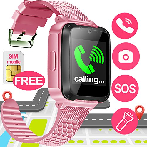 Image of the SIXONE Kid Smart Watch Phone with Free SIM Card SOS Tracker for Boy Girl Game Sport Watch with Anti-Lost Camera Electronic Learning Toy Wrist Watch Bracelet for Birthday Christmas Holiday Toy Gifts