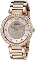 Juicy Couture Women's 1901268 Luxe Couture Analog Display Quartz Rose Gold Watch