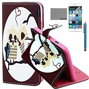 QHYHeart Owl Pattern PU Full Body Leather Case with Screen Protector and Stylus for iPhone 6 Plus