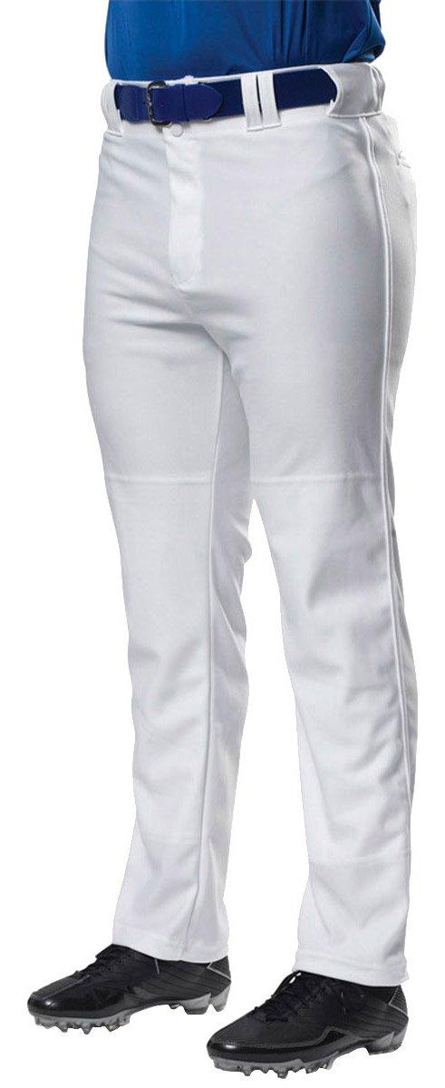 A4 野球用パンツ プロ仕様 前開き型 B00B2BJ50W Large|ホワイト ホワイト Large