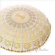 "Eyes of India 24"" Brown Gold Decorative Mandala Floor Meditation Pillow Cushion Seating Throw Cover Bohemian Boho Colorful Indian"