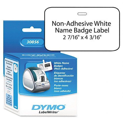 Badge Name Label Dymo (DYMO : Name Badge Insert Labels for Label Printers, 4-3/16 x 2-7/16, White, 250/Box -:- Sold as 1 BX)