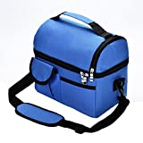 Lunch Bag Reusable Insulated Heavy Duty for Women Men Adults Multifunctional 8L Cooler And Warm Keeping Lunch Box Leakproof Waterproof (Blue)