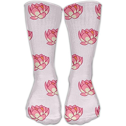 Lotus Dessert (Lotus Lily Cushion Crew Socks Casual Socks For Athletic,Travel,Running,Hiking)