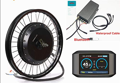 NBPower Bluetooth ! 72v 19inch 8000w QS 273 Electric Bike hub Motor Conversion kit with TFT Colorful Display, Sabvoton 72v 150Amp sine Wave Controller,8000W Ebike kit ()