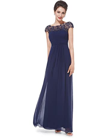 3505bdf7f94c7e Ever-Pretty Womens Cap Sleeve Lace Neckline Ruched Bust Evening Gown 09993
