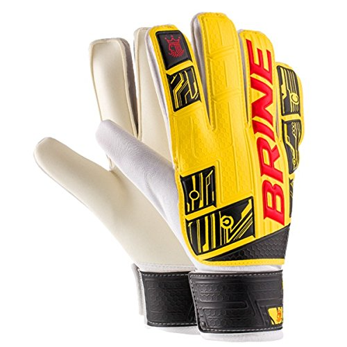 High End 3サッカーゴールキーパーグローブ3色と4でユース/ジュニア&大人サイズ) B00MNSOLX4 Size 9 (Adult M/L) イエロー イエロー Size 9 (Adult M/L)