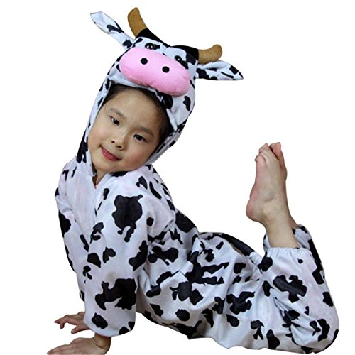 Cow Toddler Halloween Costumes (Vicwin-one Kids Unisex Animal Homewear Pajamas Onesies Performance Costume Cosplay (M Height:41