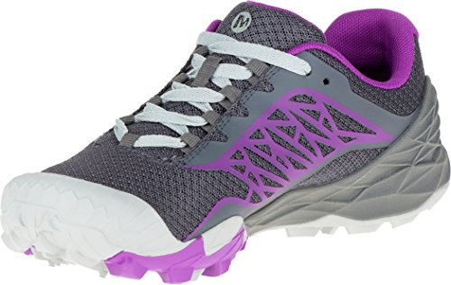 Merrell All Out Terra Light - Zapatillas para correr Mujer - gris/violeta 2016 Gris