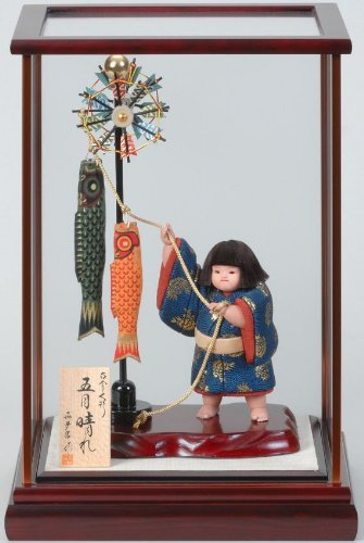 【五月人形】武者人形 五月晴れ(ケース付)【真多呂作】 B004TZY7Z6