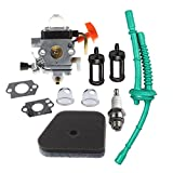 HIPA Carburetor with Fuel Line Tune Up Kit for STIHL FS100 FS100R FS110 FS110R FS110X FS110RX FS100RX FS130 FS130R Trimmer