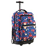 J World New York Sundance Laptop Rolling Backpack, Vintage Rose