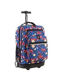 J World New York Sundance Laptop Rolling Backpack Wheel, Vintage Rose