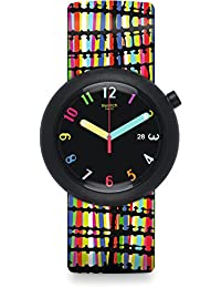 New POP Crazypop Black Dial Silicone Strap Unisex Watch PNB400