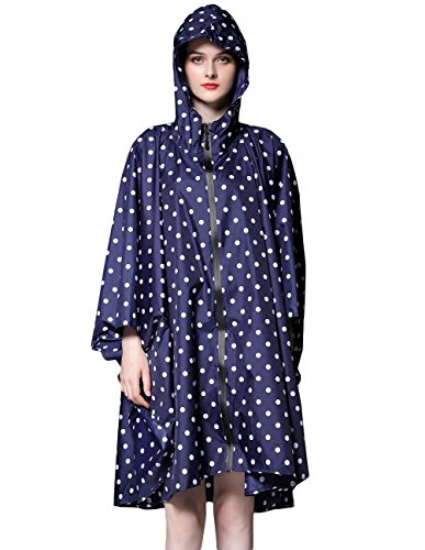 Buauty Womens Hooded Zip Up Waterproof Active Plus Size Outdoor Rain Jacket Raincoats Lightweight Poncho by Buauty (Image #4)
