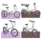 """Flying Pigeons 20"""" Lightweight Aluminum Folding Bike Foldable Bicycle, Rack and Fenders – 6 Speed Shimano Gears"""
