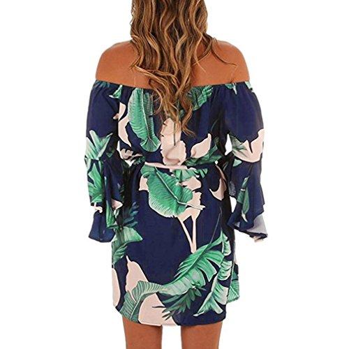 Courtes De Kimodo Femmes Fonc De Robe L Plage Mini Soir e dames Robes paule Bleu Laisse De nrnFRx
