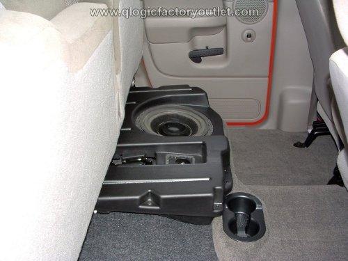 (DODGE DQC110D RAM QUAD CAB Q-Logic Custom Subwoofer Enclosure UNLOADED for 1-10-Inch Sub Q-Customs)