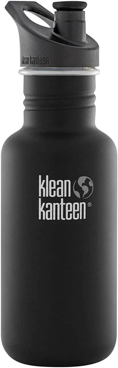 Klean Kanteen Classic Stainless Steel Singel Wall Non-Insulated Water Bottle with Sport Cap