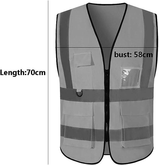 Zipper safety vestHigh Visibility Reflective Vest, Workwear