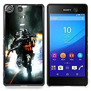 - Soldier Bttlefield 2/ Hard Snap On Cell Phone Case Cover - Cao - For Sony Xperia M5