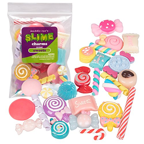 Maddie Raes Slime Charms, Mixed Sweets 25 pcs of Slime Beads