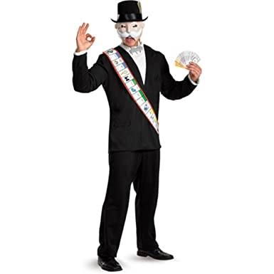 monopoly deluxe adult costume size x large 42 46