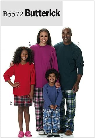 BUTTERICK PATTERNS B5153ADT Misses// Mens//Childrens//Boys// Girls Shorts and Pants Size ADT SML-MED-LRG-XLG