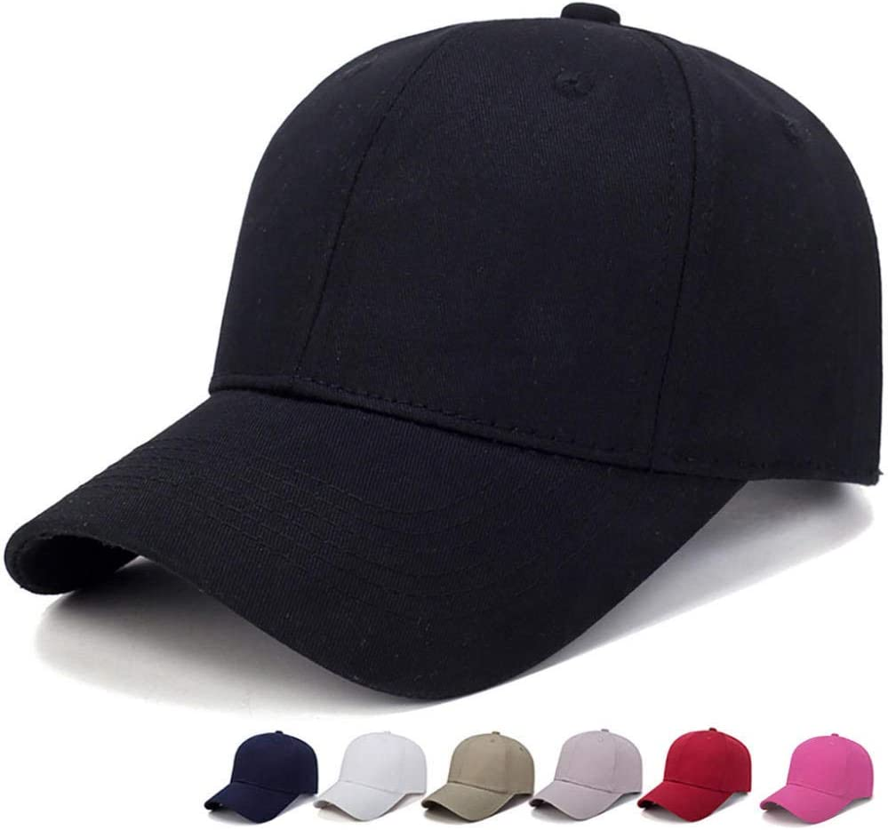Baseball Cap Women Mencotton Light Board Solid Color Men Cap Outdoor Sun Adjustable Sports Caps in Summer@Bk/_China