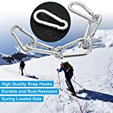 50 Pack Spring Snap Hook, Carabiner Clip Galvanized