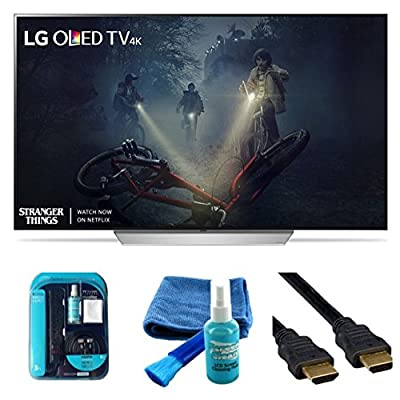 "2017 Model OLED65C7P Series C7 Class 65"" 4K TV Bundle Includes, 4K HDMI Cable, Surge Protector, Cleaning Cloth"