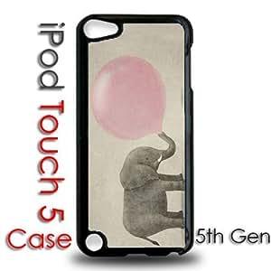IPod 5 Touch Black Plastic Case - Elephant Blowing Bubble Gum