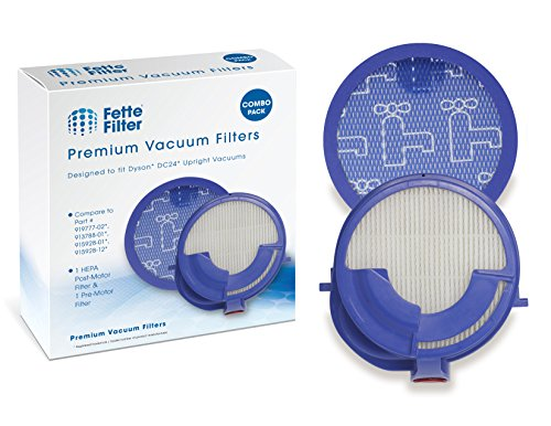 Fette Filter - HEPA Post-Motor Filter & Pre-Motor Filter Compatible with Dyson DC24. Compare to Part # 919777-02 & 915928-12 - Combo Pack