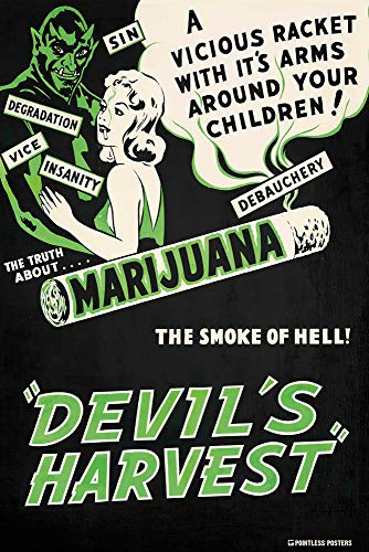 Devil's Harvest Vintage Movie Poster - 12 x 18 Inches Unframed Print - Great Wall Decor -